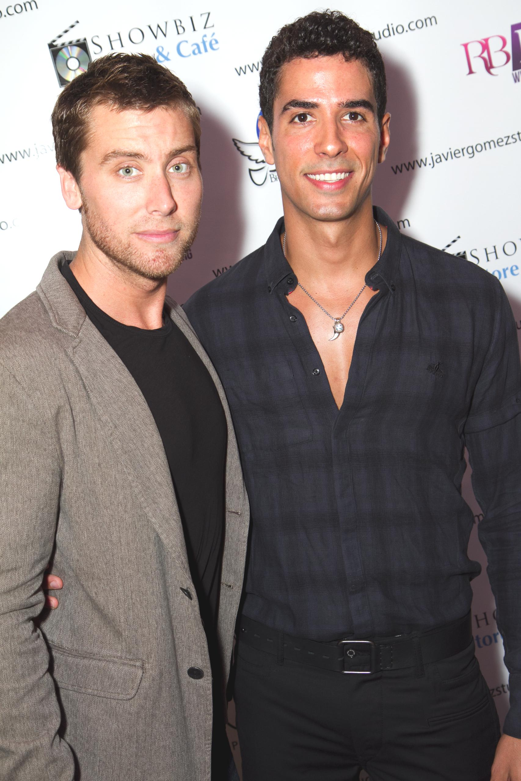 Javier Gomez Photographer with Lance Bass from