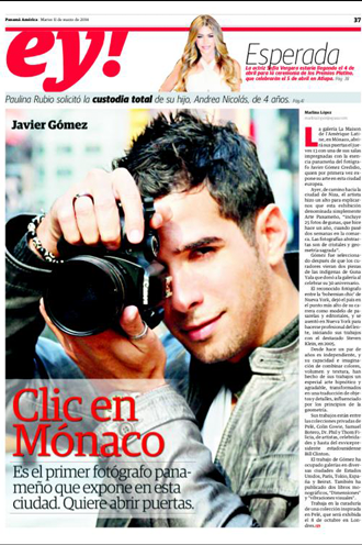 Monaco Exhibit Javier Gomez Photographer Panamá